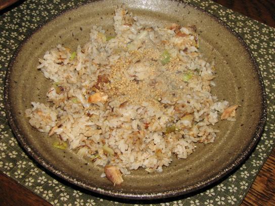 おさかなチャーハン:サバの水煮缶使用 (レシピ付き)
