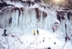 湯川の氷柱