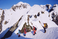 八ッ峰�V峰付近の雪稜
