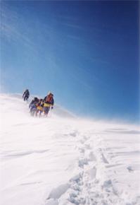別山の稜線