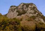 城山の岩場