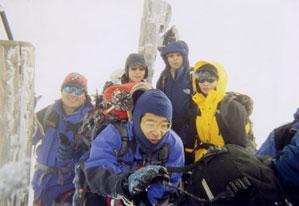 赤岳山頂にて